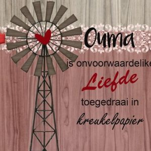 Ouma is onvoorwaardelike liefde toegedraai in kreukelpapier