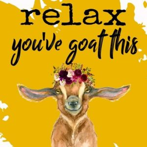 """Relax you've """"GOAT"""" this"""